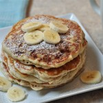 banana walnut pancakes