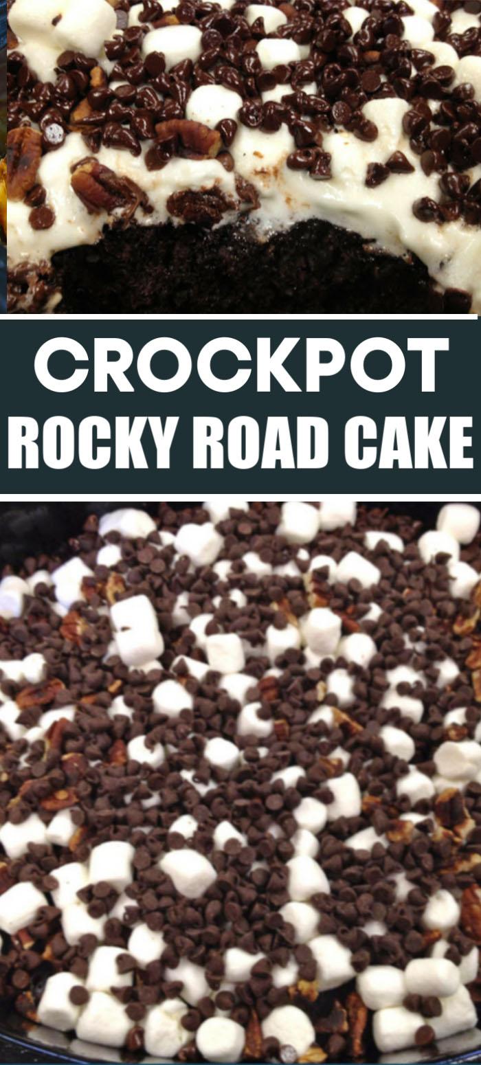 Crockpot Rocky Road Cake