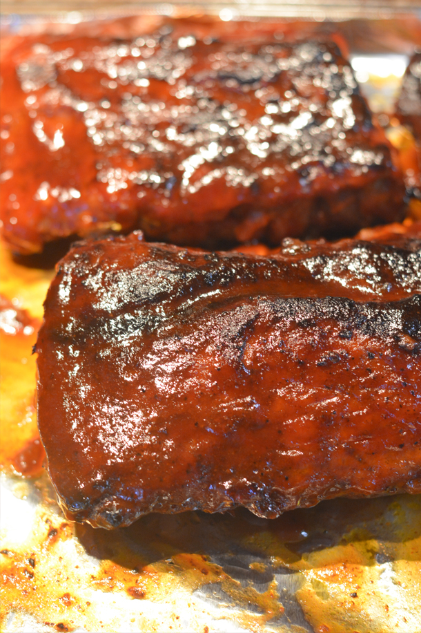 barbecue pork ribs in crock pot