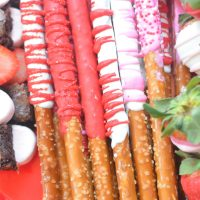 valentine chocolate covered pretzels