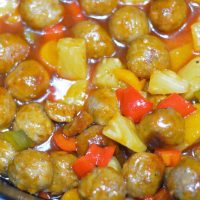 crock-pot sweet sour meatballs