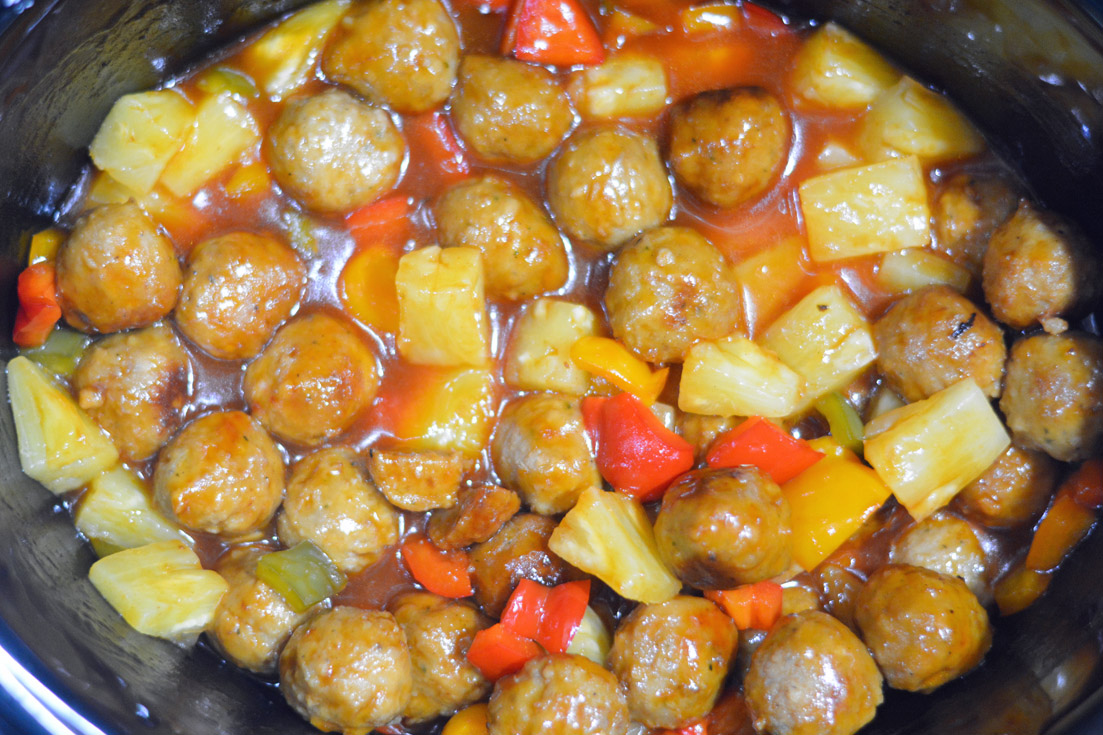 slow cooker sweet sour meatballs