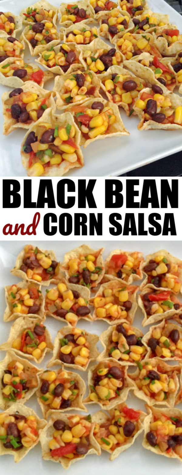 5 minute black bean corn salsa
