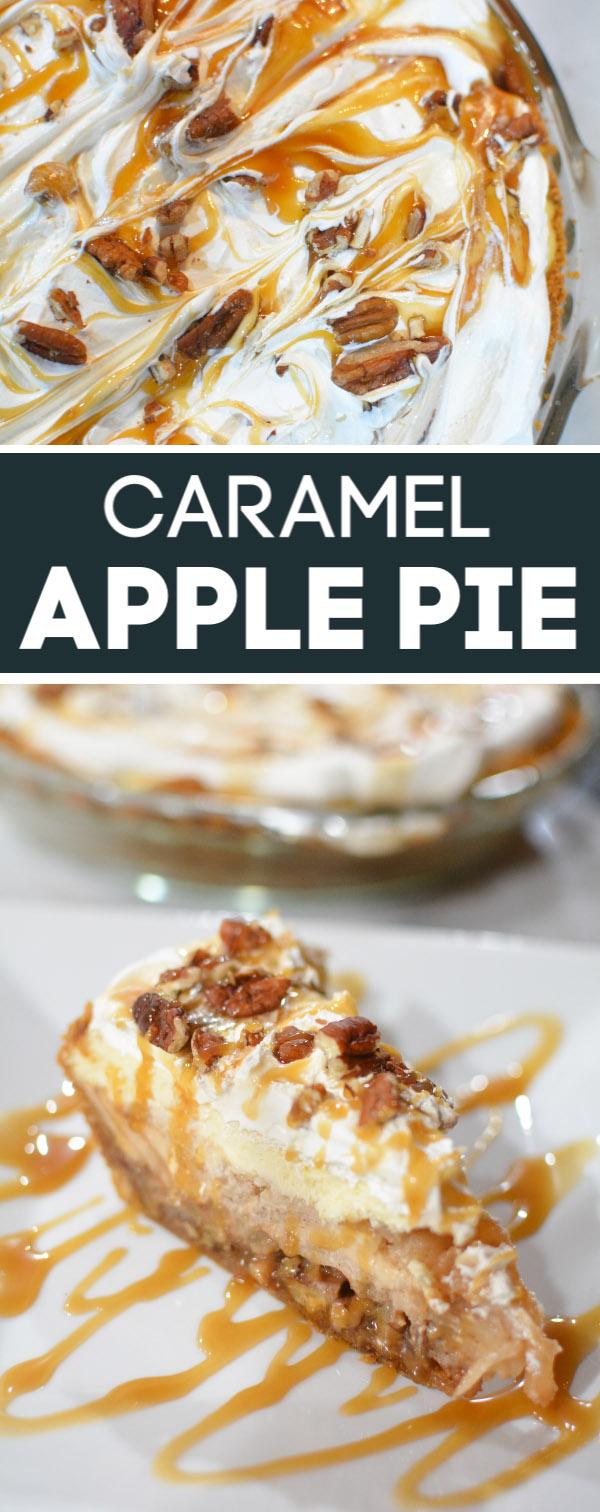 slice of caramel apple pie