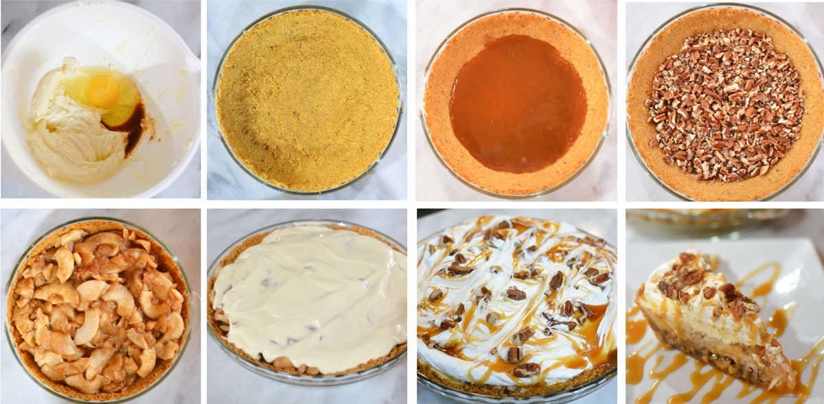 step by step photos caramel apple pie