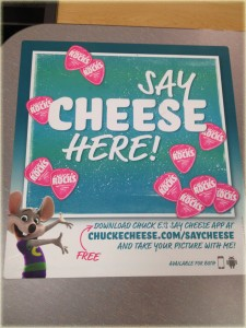 say cheese app chuck e cheese