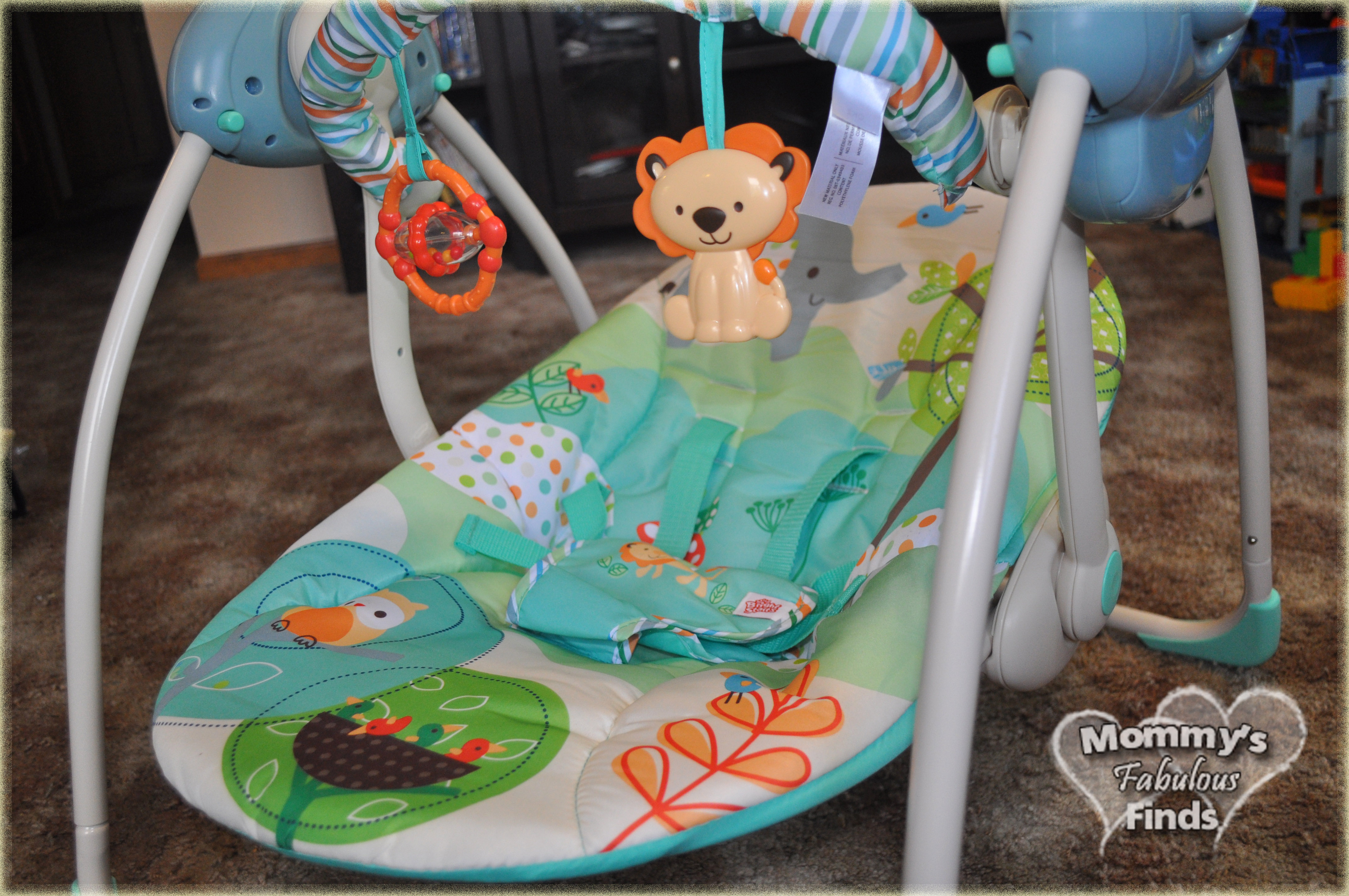 Bright Starts Playful Pals Portable Swing | Making Mom Happy This Mother's Day | Giveaway