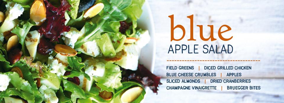 blue apple salad brueggers