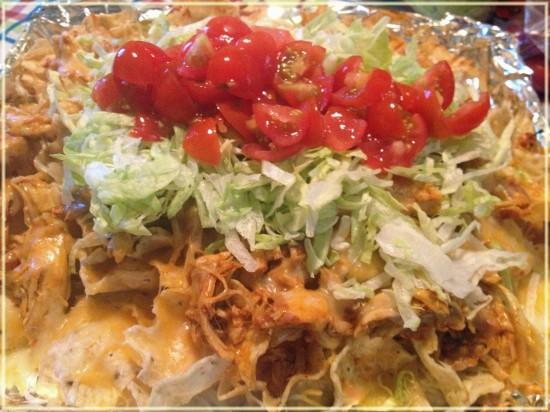 crock-pot chicken nachos