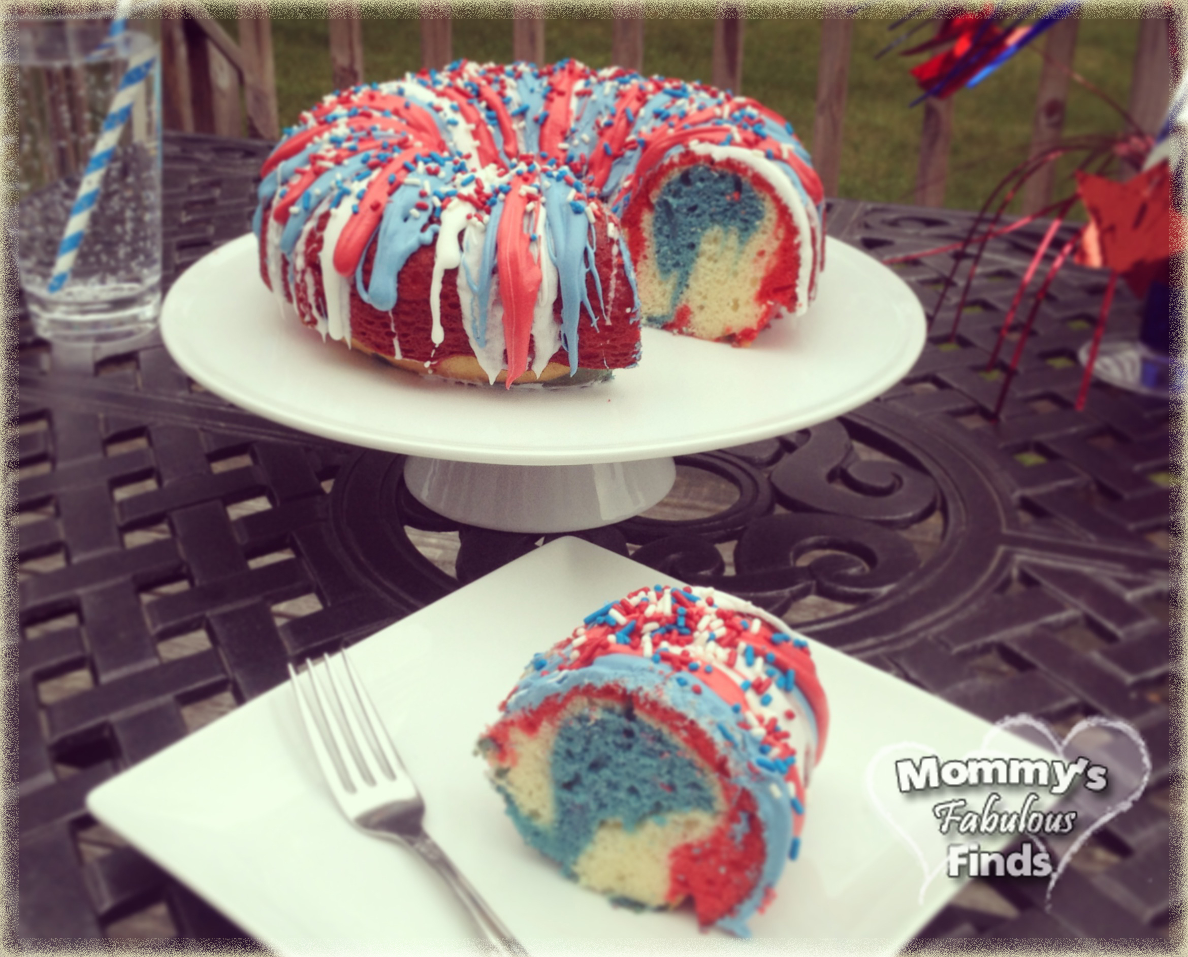 4th of July Recipe | Firecracker Red White and Blue Cake
