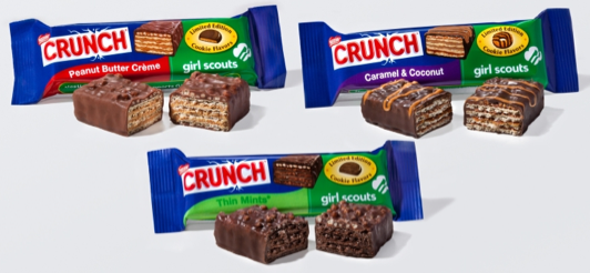 nestle girl scount candy bars