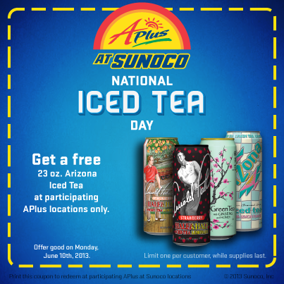 sunoco free iced tea