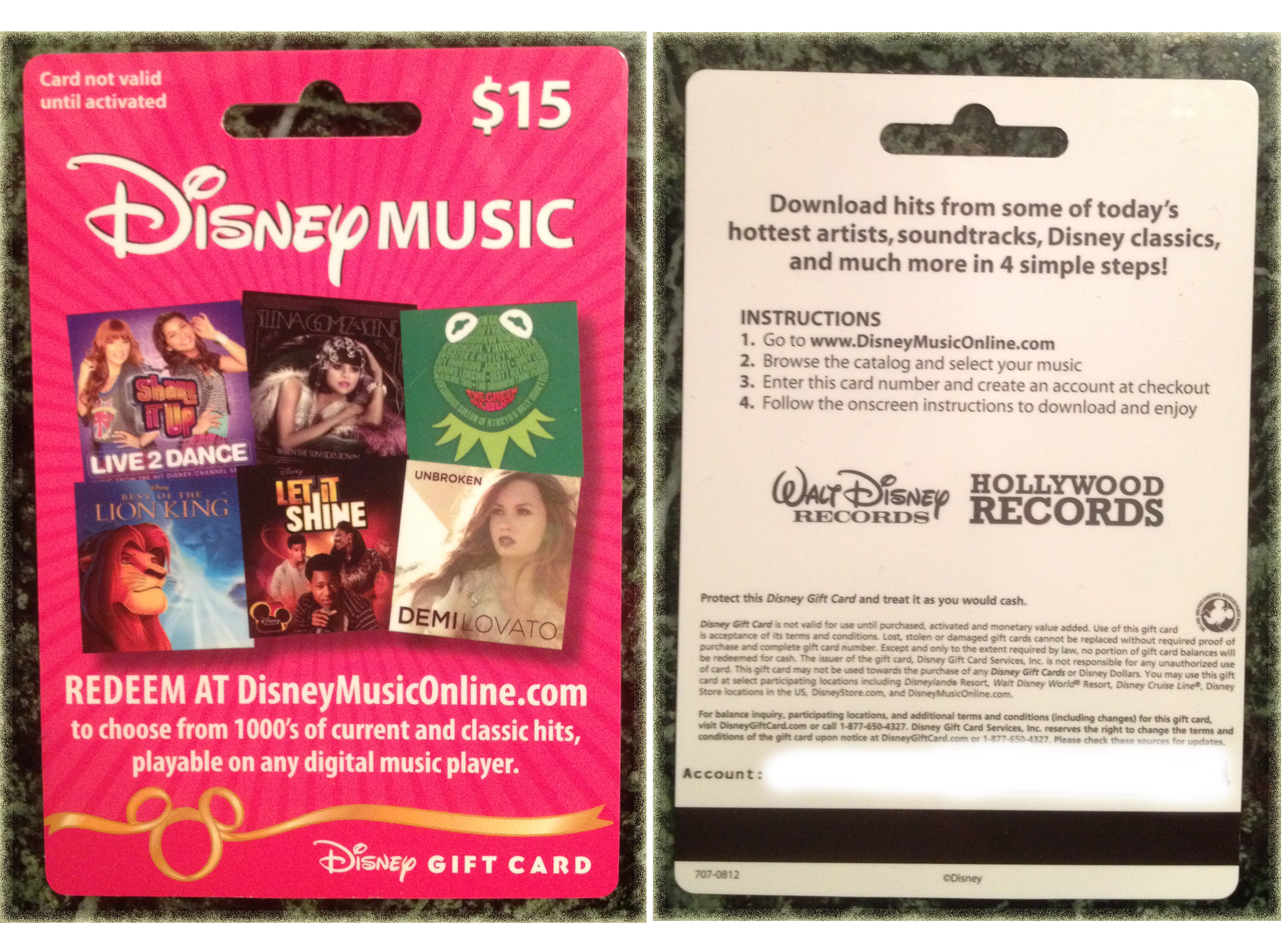 Disney Music Gift Card Makes Shopping Easy Mommys Fabulous Finds