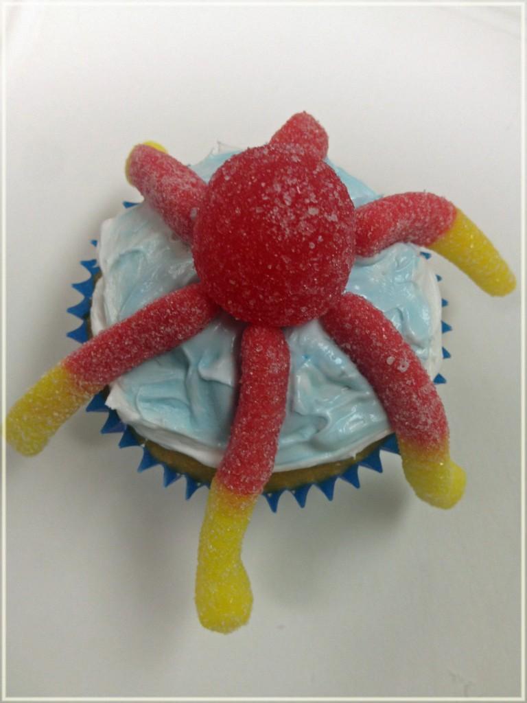 gummyworm cupcake