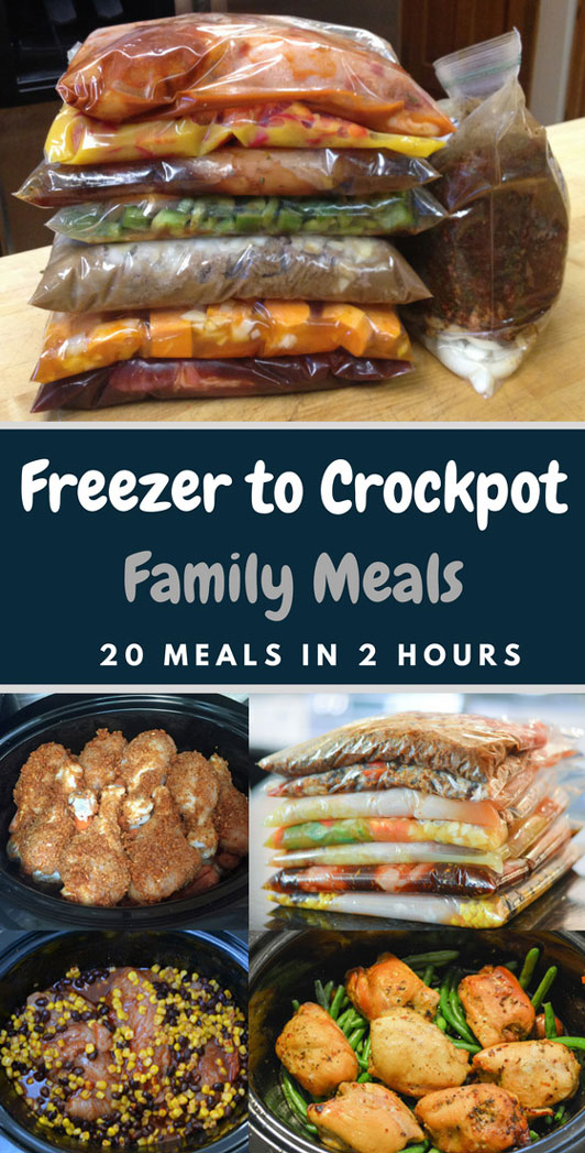 Crockpot Freezer Meals 20 Crockpot Meals In 2 Hours
