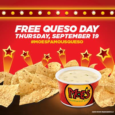 moes southwest grill free queso