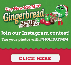 Gingerbread m&m's #HolidayMM