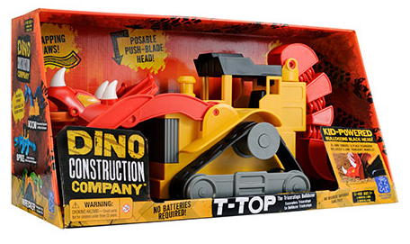 Dino Constuction Company T-Top the Triceratops Bulldozer