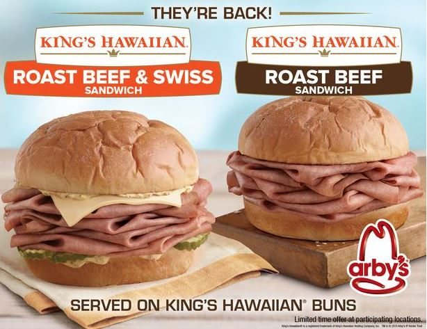 Arby's KING'S HAWAIIAN Roast Beef Sandwich Is Back For A Limited Time!