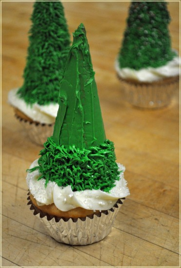christmas tree cupcakes #shop
