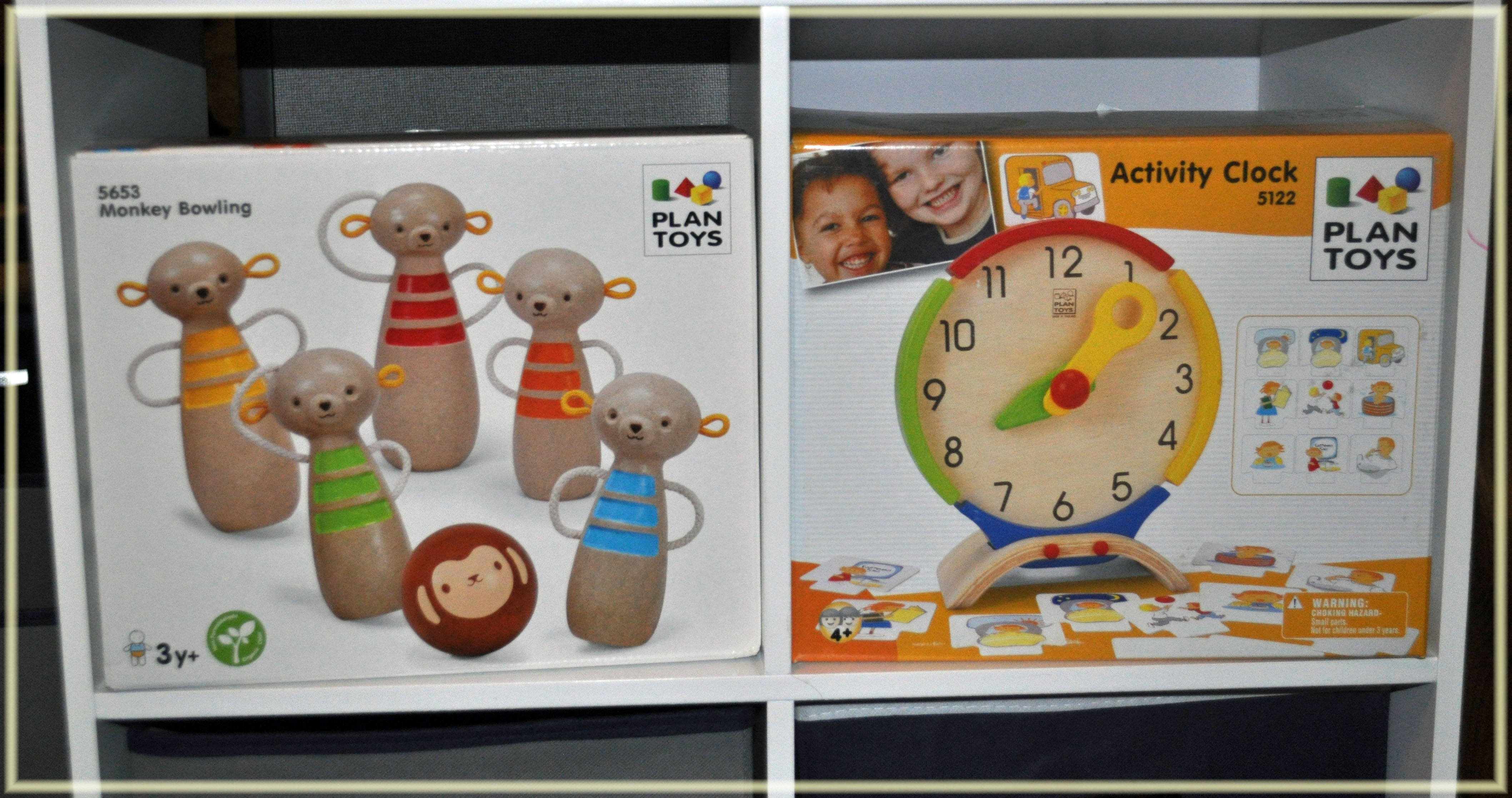 plan toys wooden clock
