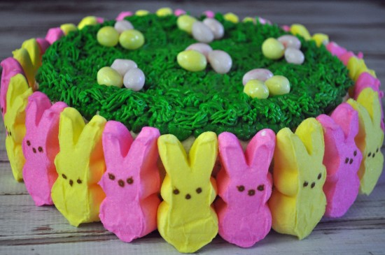 easter cakes made with peeps