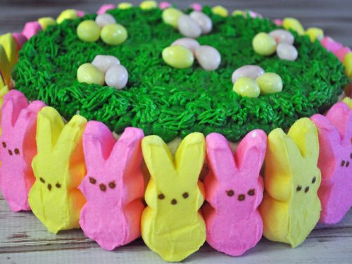 Magnificent Peeps Easter Cake Mommys Fabulous Finds Personalised Birthday Cards Veneteletsinfo