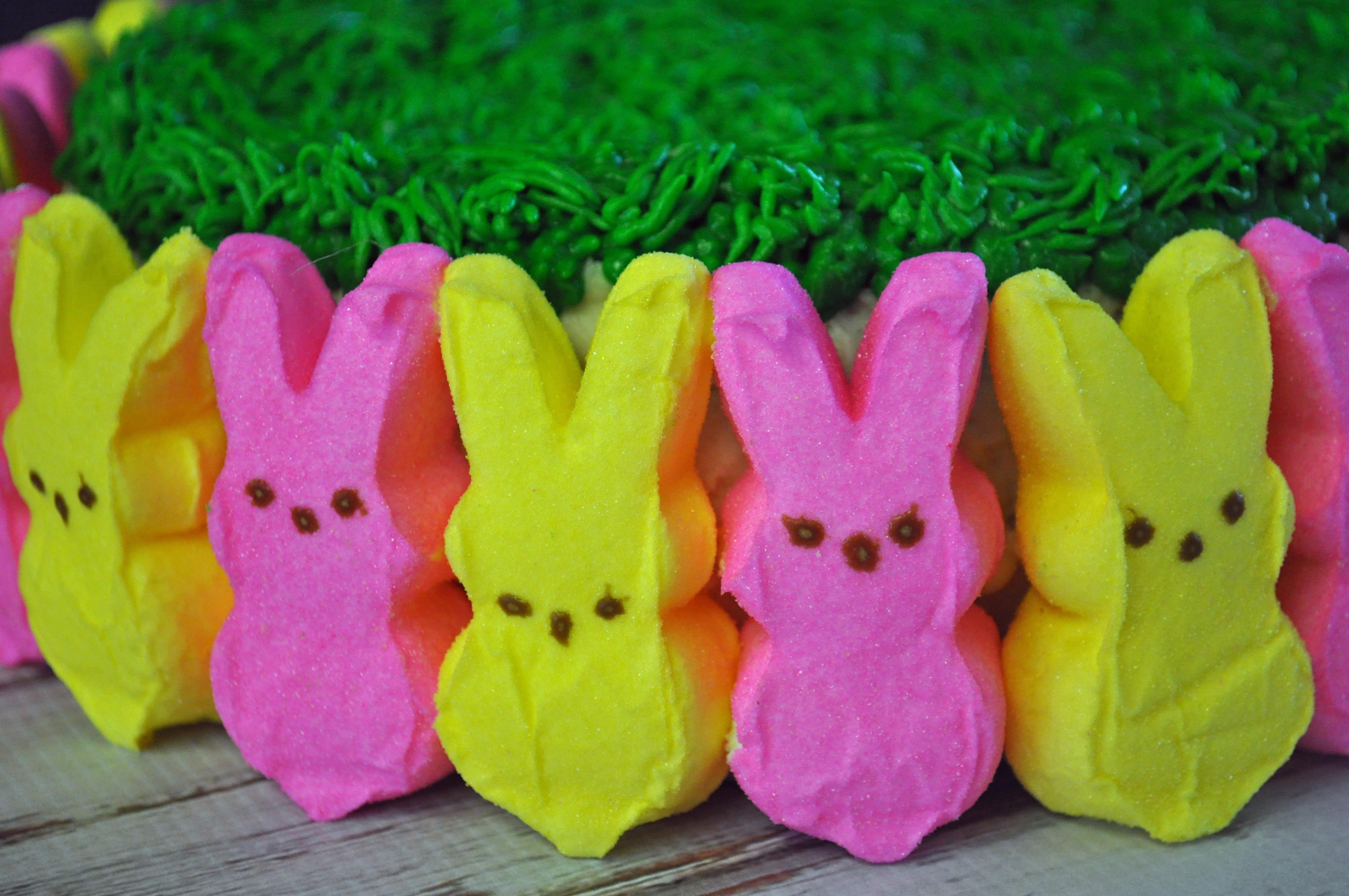 Easter Cake Using Peeps