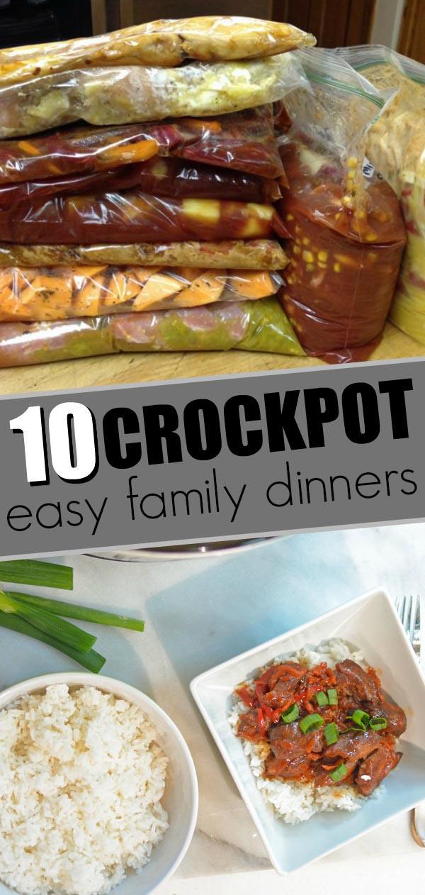 10 crockpot family dinners