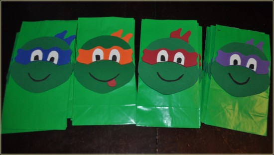 how to make ninja turtle goodie bags