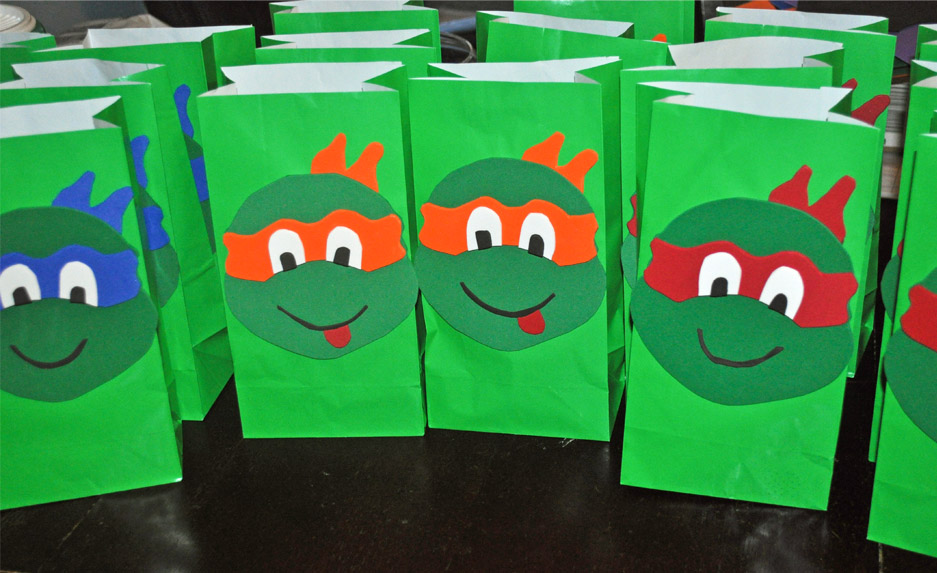 how to make teenage mutant ninja turtle goodie bags