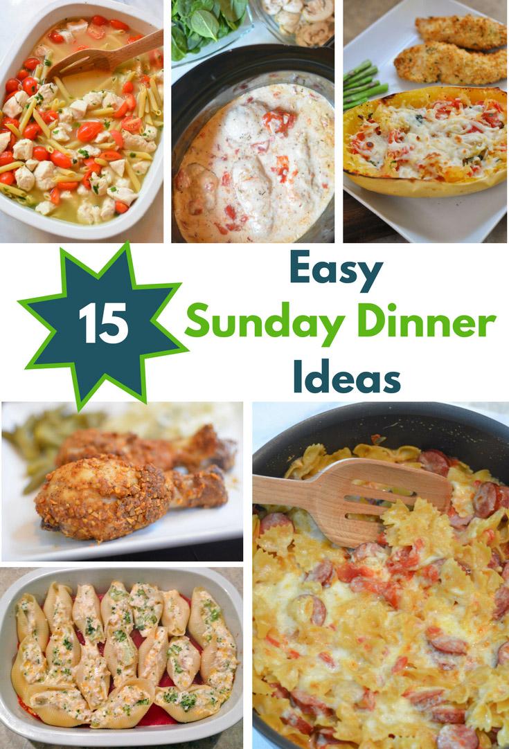 15 Easy Sunday Dinner Recipes