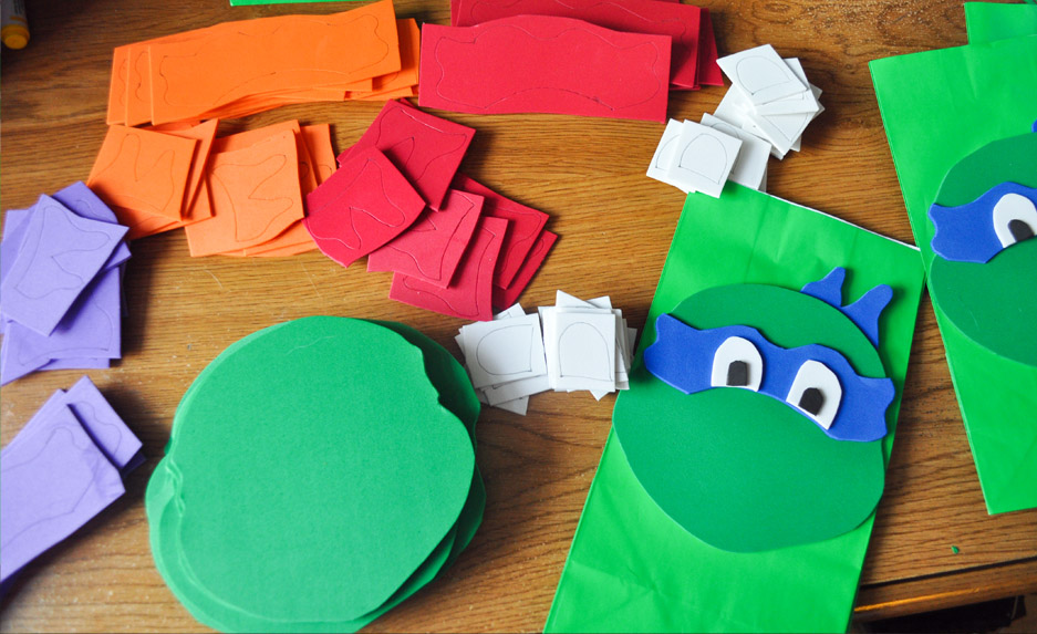 TMNT Party Ideas – DIY Ninja Turtle Goodie Bags