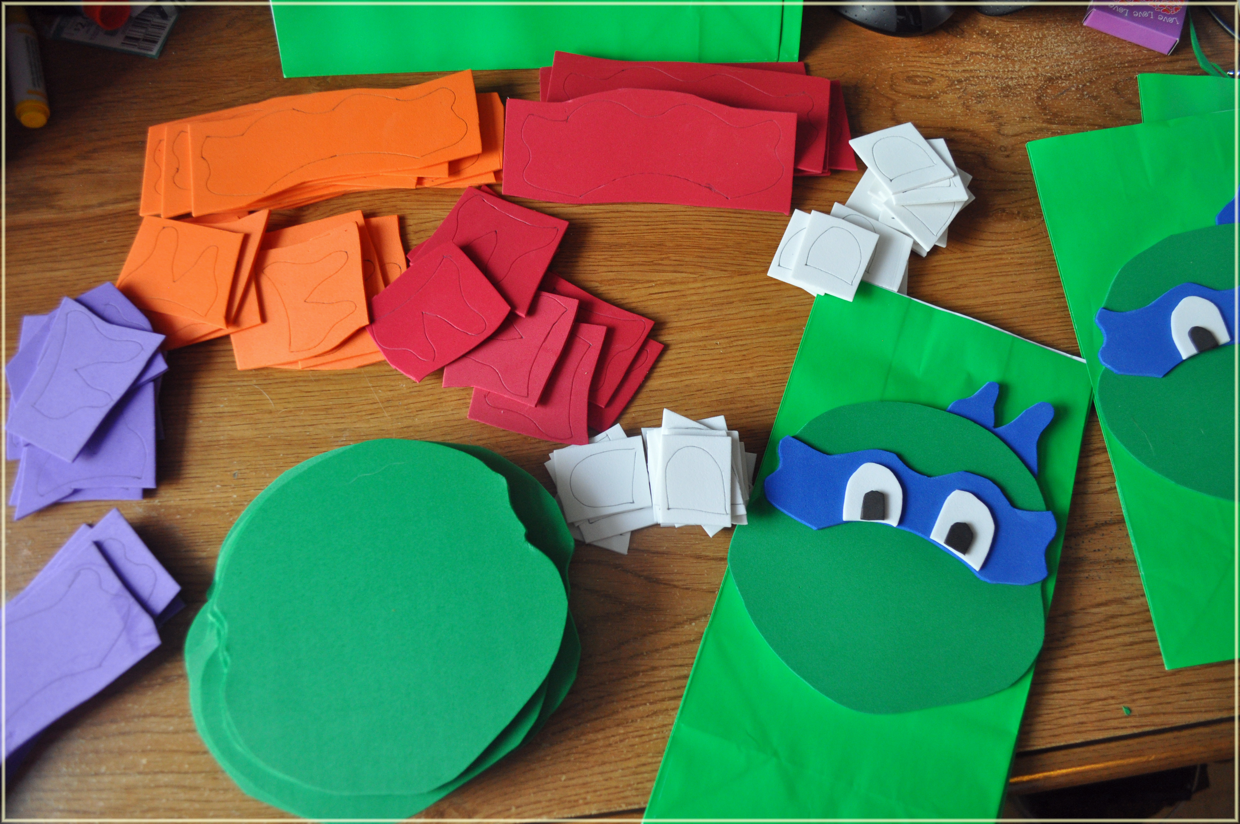 TMNT Party Ideas DIY Ninja Turtle Goodie Bags Mommys