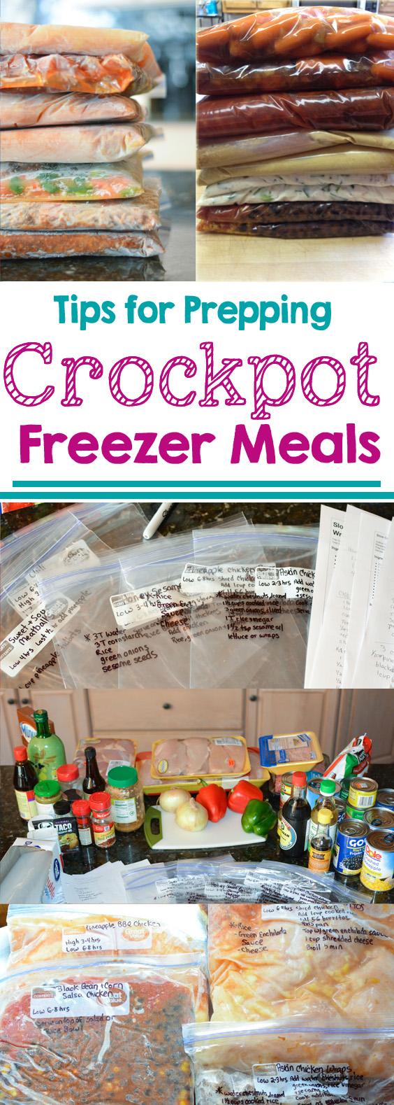 tips for prepping crock pot freezer meals