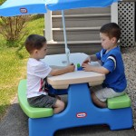 Easy Store™ Picnic Table with Umbrella