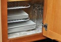 Adding a Decorative Touch To The Cabinets With Duck Brand's Shelf Liner