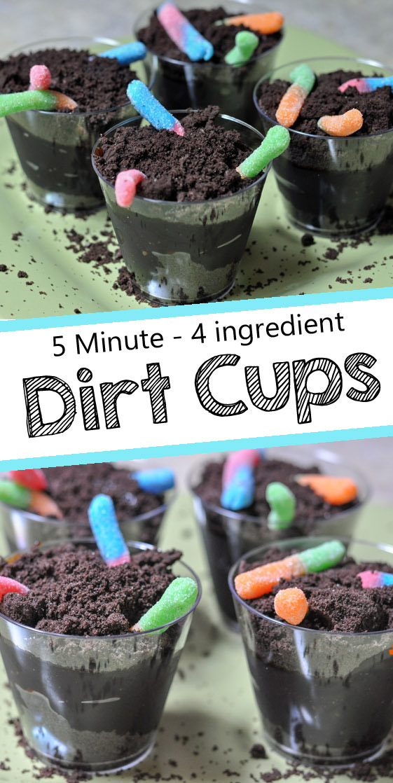 Dirt Cups With Gummy Worms Mommy S Fabulous Finds