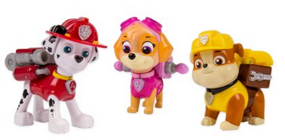Paw Patrol Marshal, Skye, Rubble