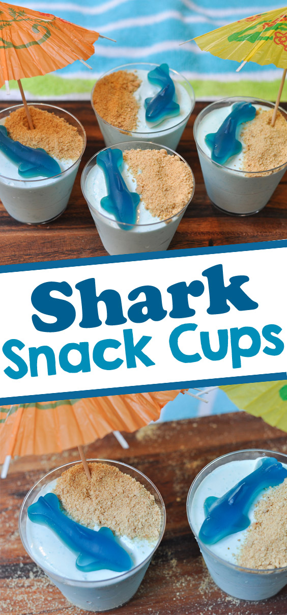 Shark snack cups