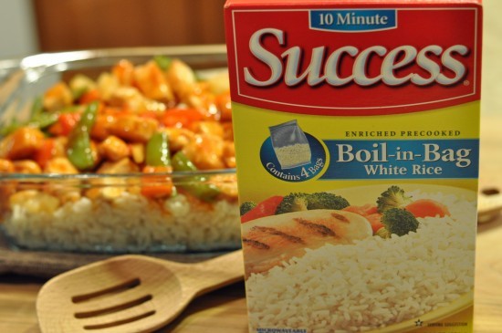sweet and sour chicken with success rice