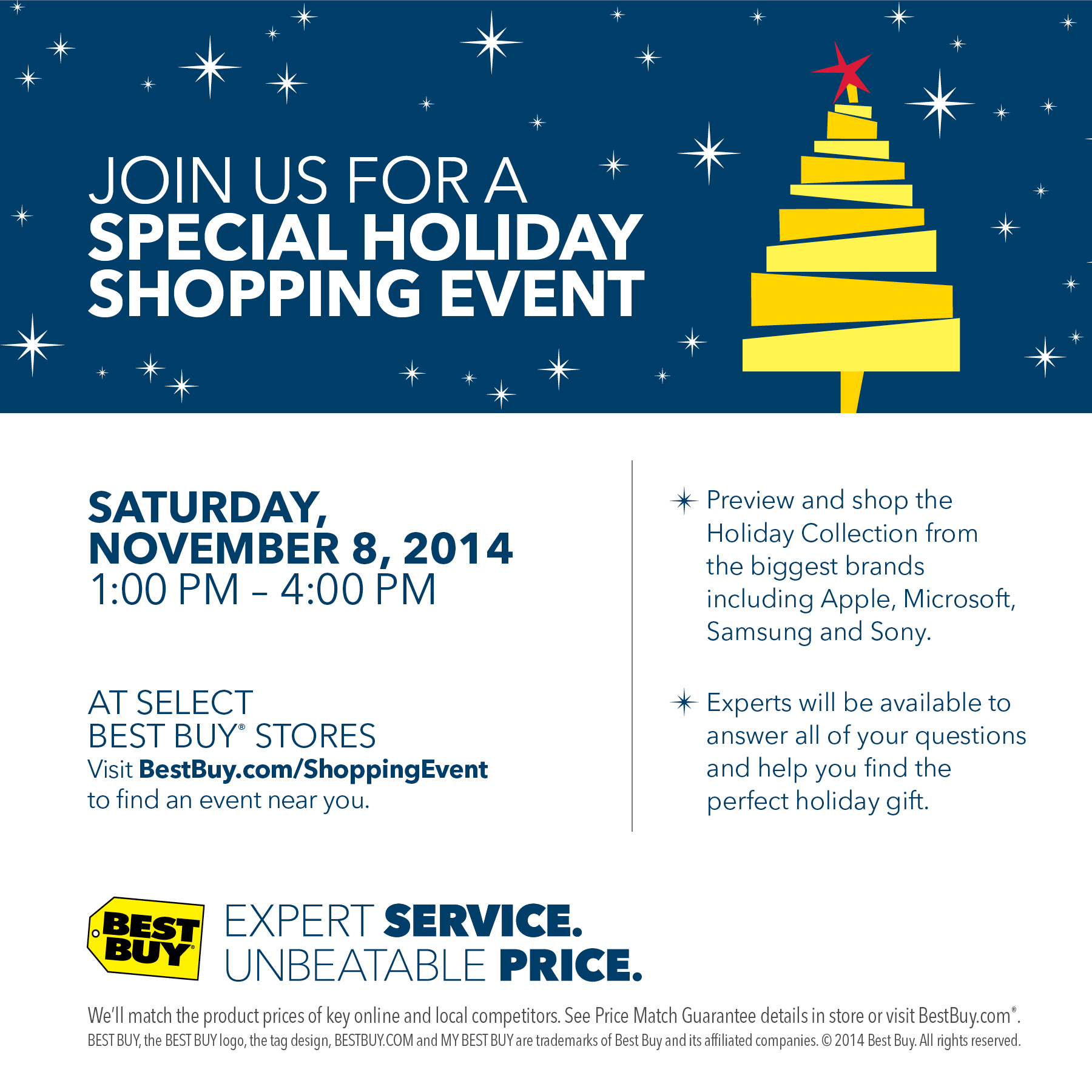 Best Buy Holiday Shopping Event – November 8th