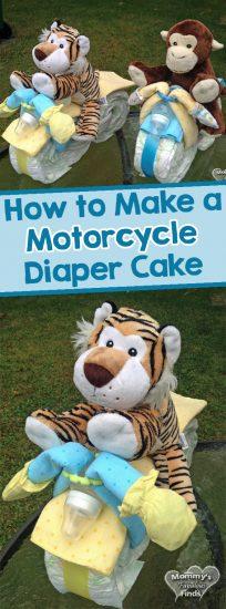 Motorycle Diaper Cake