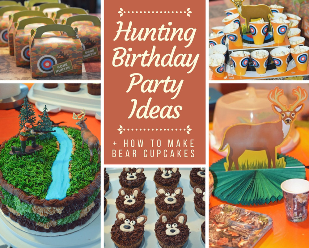 Swell Hunting Birthday Party How To Make Bear Cupcakes Mommys Personalised Birthday Cards Veneteletsinfo