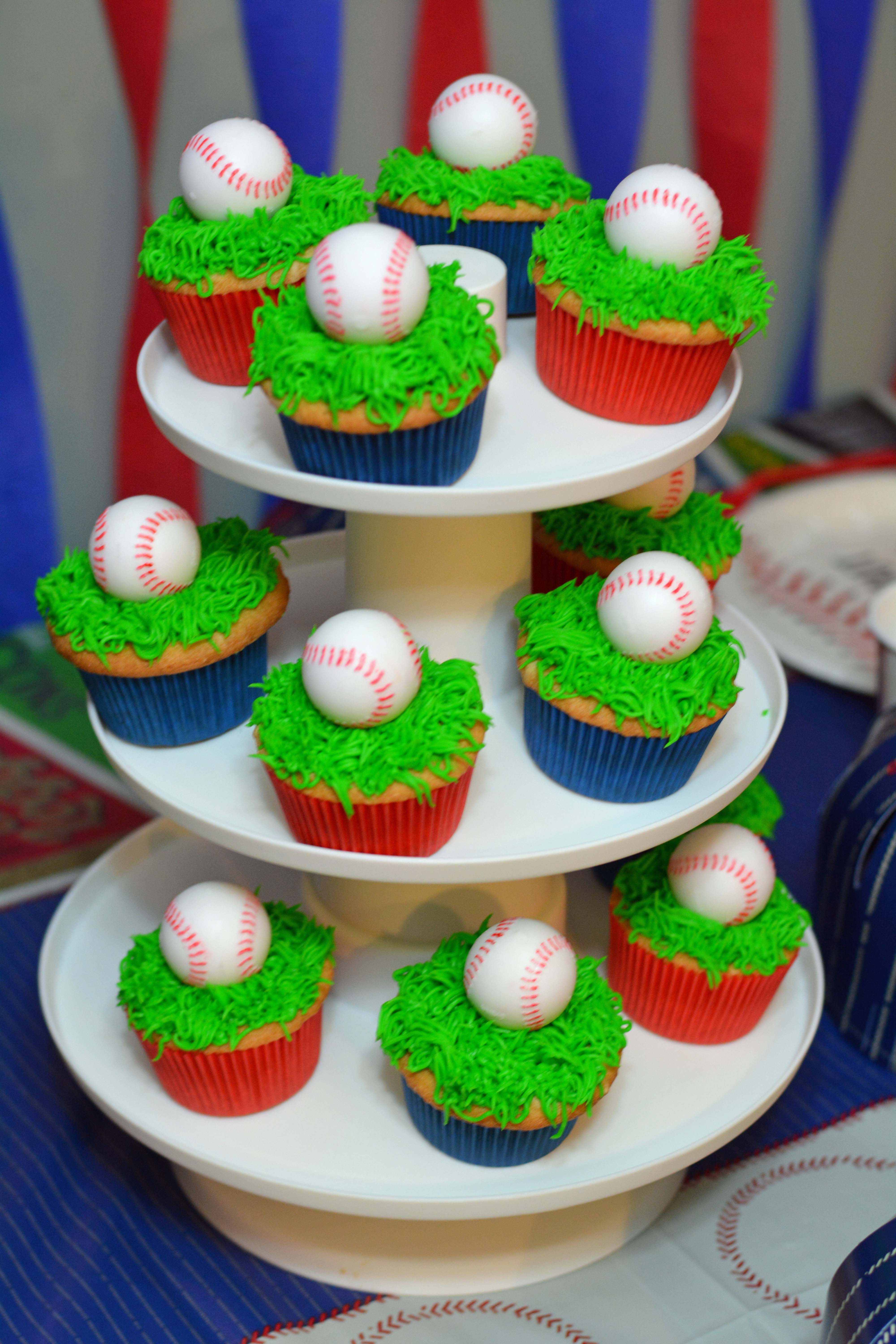 Baseball Themed Decorating Ideas Part - 45: Easy Baseball Cupcakes Baseball Cupcakes