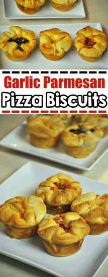 Garlic Parmesan Pizza Biscuits