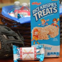 baseball rice krispy treats