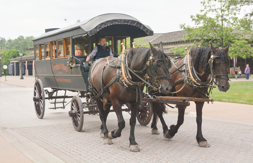 Greenfield Village horse drawn carriage ride