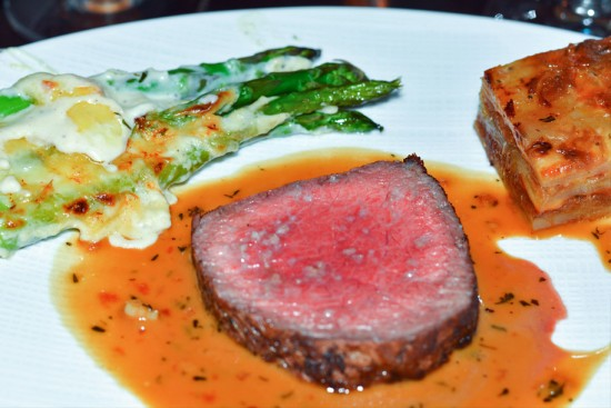 Niman Ranch Prime New York Strip served with Madeira Cream Sauce