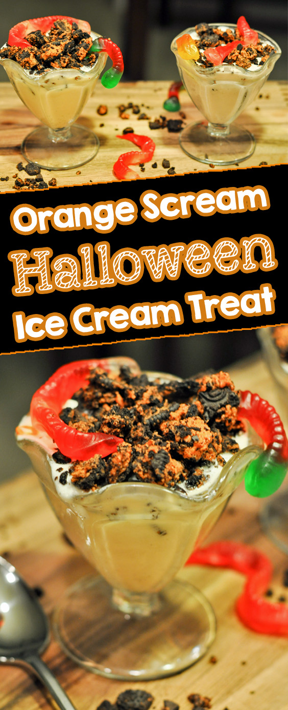 Orange Scream Halloween Ice Cream Treat